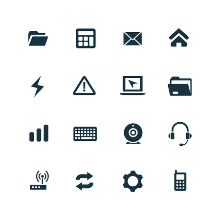 computer icons: computer icons set on white background