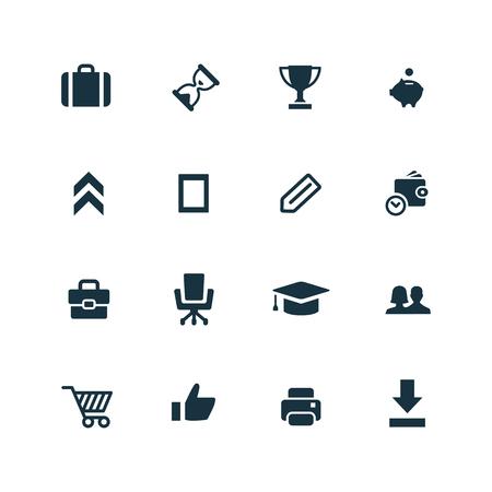 set goal: startup icons set on white background Illustration