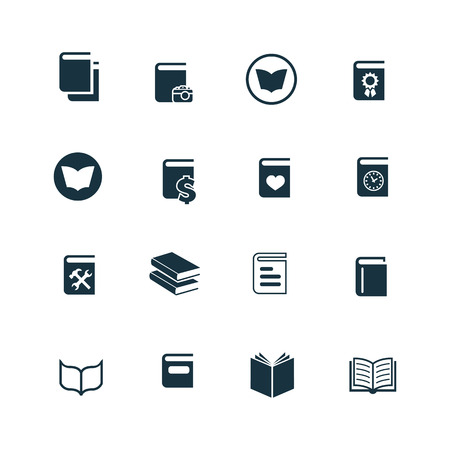 videobook: books icons set on white background
