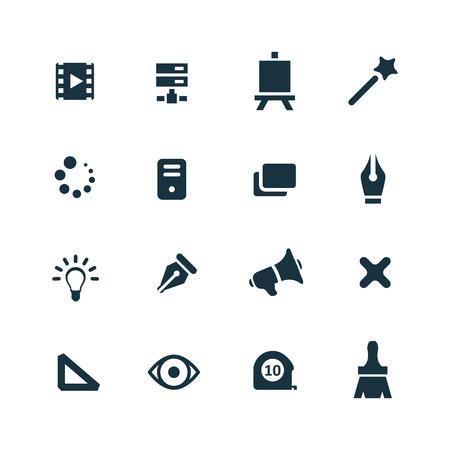 art, design icons set on white background Vector