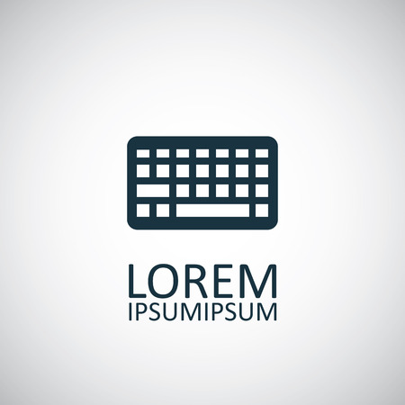 qwerty: keyboard icon, isolated, black on the white background. Vector Illustration