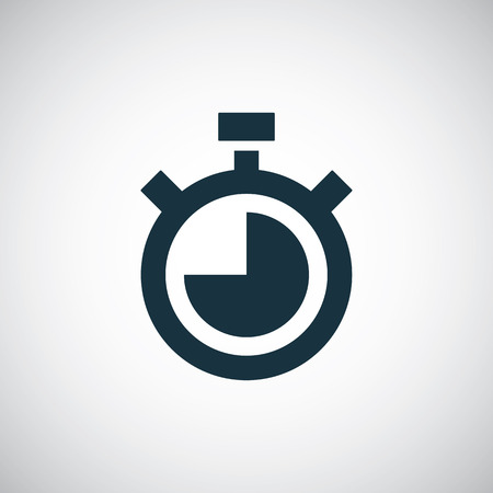 timer icon, isolated, black on the white background. Vector Vector