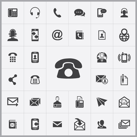 contact us icons universal set for web and mobile