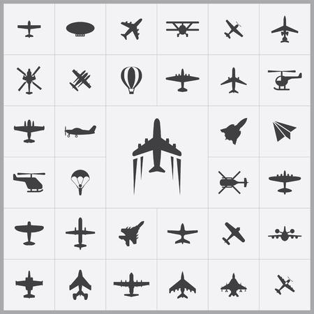 aeronautics: aviation icons universal set for web and mobile
