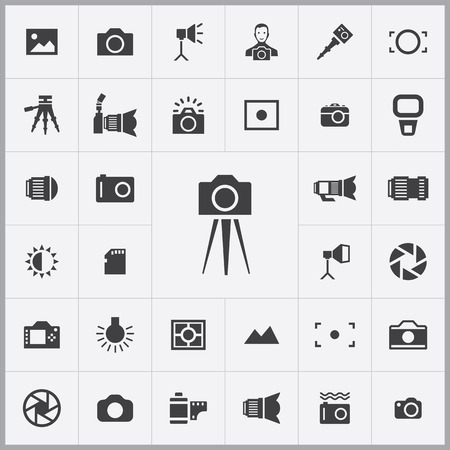 photography icons: photography icons universal set for web and mobile
