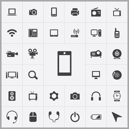 icono computadora: dispositivo de iconos conjunto universal para web y móviles Vectores