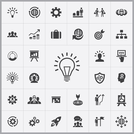 sheild: solution icons universal set for web and mobile