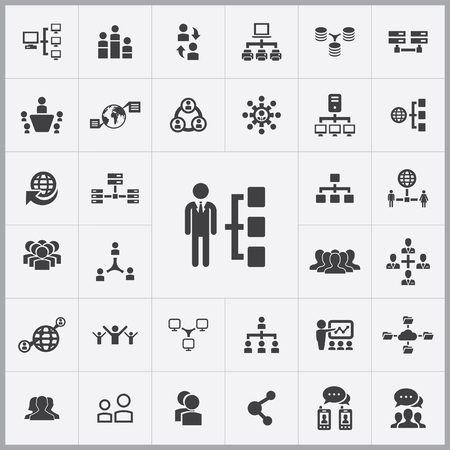 global communication: network icons universal set for web and mobile