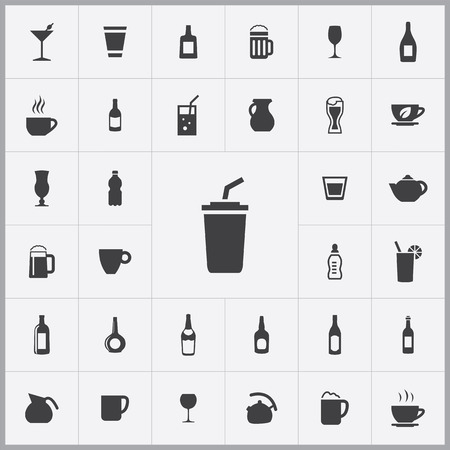 drinking straw: drinks icons universal set for web and mobile Illustration