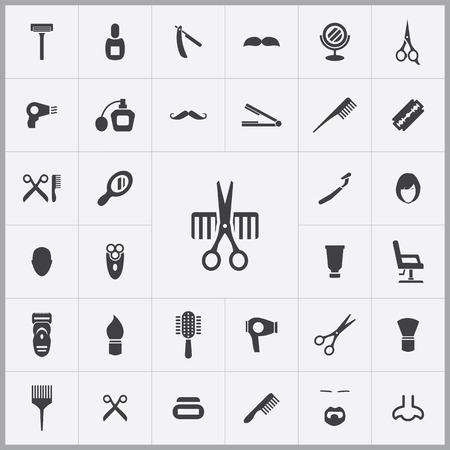 barbershop: barbershop icons universal set for web and mobile