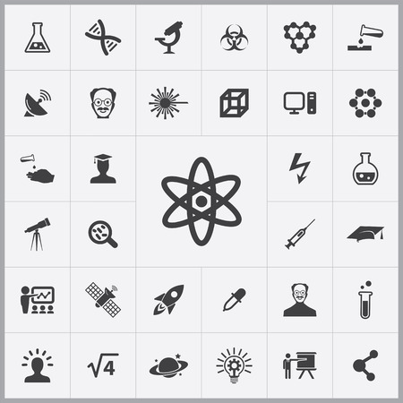 molecular science: science icons universal set for web and mobile