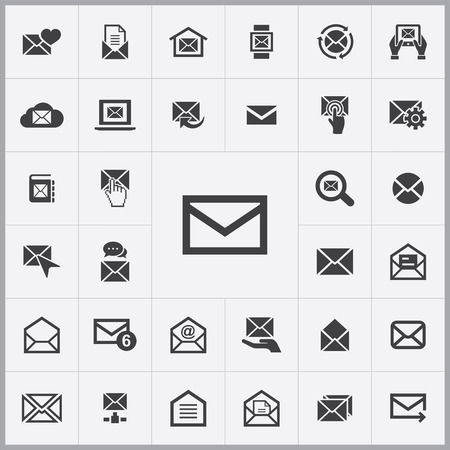 communication icons: mail icons universal set for web and mobile
