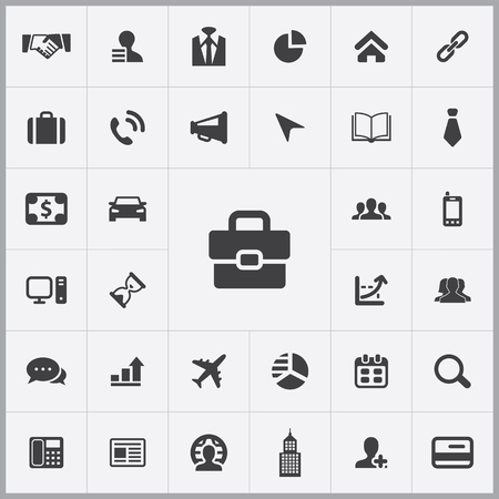 corporate icons universal set for web and mobile 向量圖像