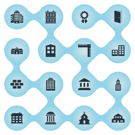Set Of 16 Simple Structure Icons. Can Be Found Such Elements As Block, Construction, Superstructure And Other. Illustration