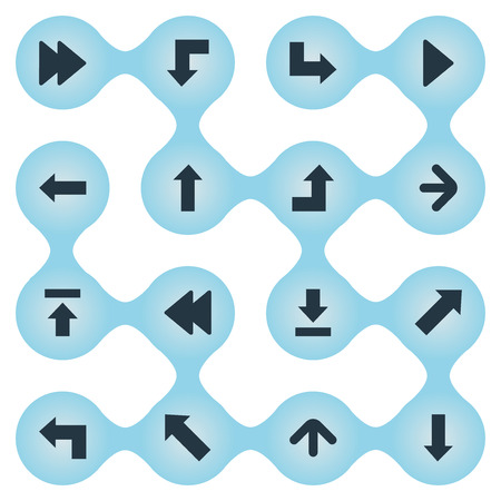Vector Illustration Set Of Simple Arrows Icons. Elements Pointer, Pointer, Reduction And Other Synonyms Upward, Down And Arrow.