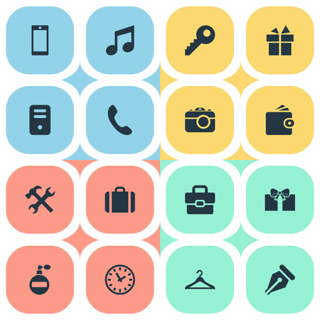 gratuity: Vector Illustration Set Of Simple  Icons. Elements System Unit, Hanger, Repair And Other Synonyms Briefcase, Watch And Gratuity.