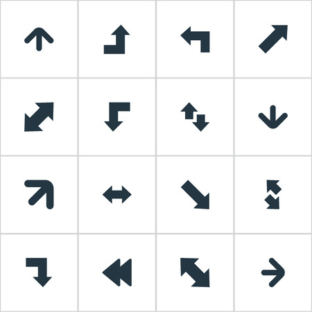 signing papers: Vector Illustration Set Of Simple Indicator Icons. Elements Raising-Falling, Slanted Arrow, Right-Up And Other Synonyms Down Right Pointing, Down And Right.