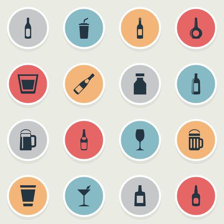 그림 간단한 음료 아이콘의 집합입니다.