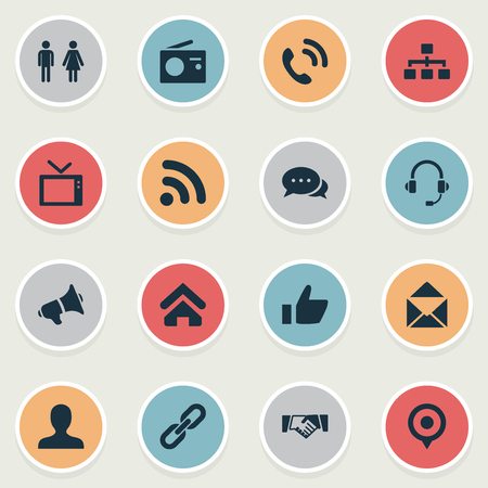 Vector Illustration Set Of Simple Transmission Icons. Elements Pin, Structure, Talking And Other Synonyms Radio, Structure And Wave. Illustration