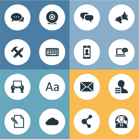 patent key: Vector Illustration Set Of Simple Newspaper Icons. Elements Notepad, Document, Broadcast And Other Synonyms Message, Megaphone And Conversation. Illustration