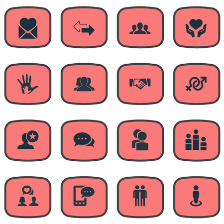 Vector Illustration Set Of Simple  Icons. Elements Helpful, Camaraderie, Symbol And Other Synonyms Winner, Arrows And Singleness. Illustration