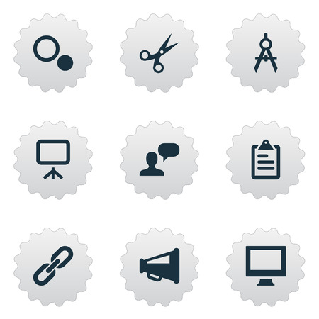 Vector Illustration Set Of Simple Icons Icons. Elements Cut, Assessment, Display And Other Synonyms Cut, Assessment And Gadget.