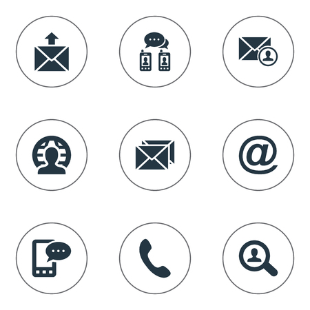 Illustration of a Simple Connect Icons. Elements Epistle Author, Correspondence, Postal And Other Synonyms E-Mail, Talking And Symbol.