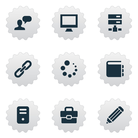 Vector Illustration Set Of Simple Design Icons. Elements System Unit, Pen, Blueprint And Other Synonyms Assessment, Blueprint And Illustration. Illustration