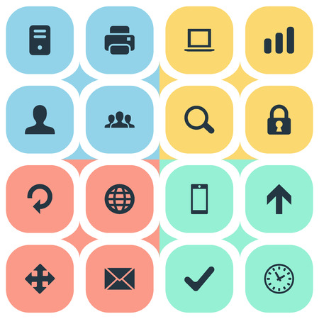 Vector Illustration Set Of Simple Apps Icons. Elements Upward Direction, Message, Statistics And Other Synonyms Arrow, User And Smartphone.