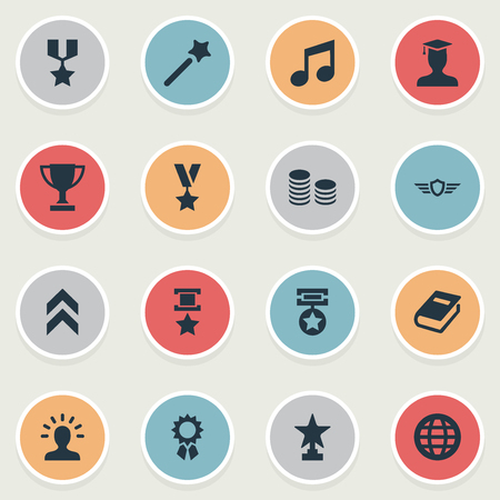 Vector Illustration Set Of Simple Champ Icons. Elements Miracle, Victory, Avatar And Other Synonyms Avatar, Miracle And Magic. Illustration