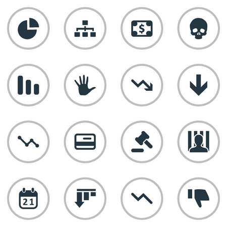Vector Illustration Set Of Simple Impasse Icons. Elements Head Bone, Penitentiary, Downward And Other Synonyms Work, Thumb And Credit. Illustration