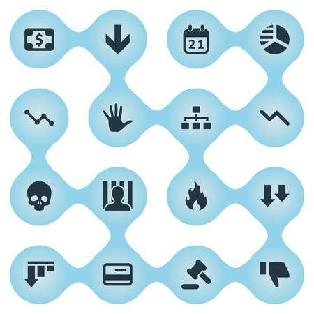 Vector Illustration Set Of Simple Trouble Icons. Elements Tribunal, Info Graph, Agenda And Other Synonyms Finger, Hammer And Head.