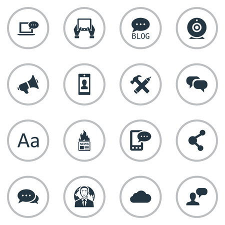 Vector Illustration Set Of Simple User Icons. Elements Repair, Notepad, Man Considering And Other Synonyms Hammer, International And Man.