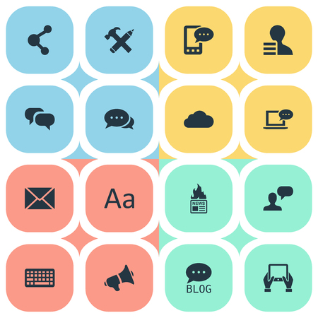 Vector Illustration Set Of Simple Newspaper Icons. Elements Gain, Post, Notepad And Other Synonyms Gain, Earnings And Coming. Ilustrace