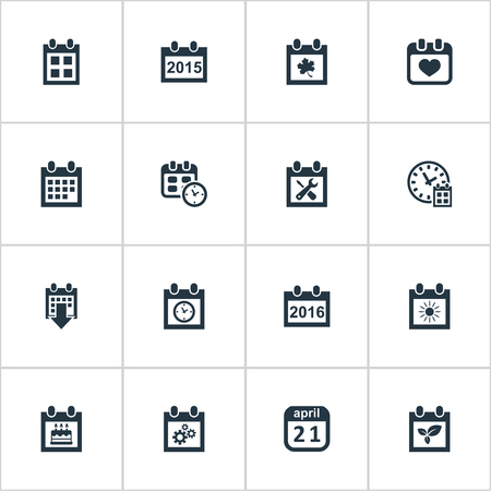 targets: Vector Illustration Set Of Simple Date Icons. Elements Remembrance, Plant, History And Other Synonyms April, Day And Leaf.