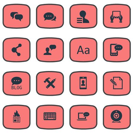 favor: Vector Illustration Set Of Simple User Icons. Elements Argument, Profile, Document And Other Synonyms Smartphone, Profit And Notepad.