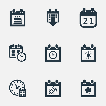 flotation: Vector Illustration Set Of Simple Plan Icons. Elements Special Day, Leaf, History And Other Synonyms Summer, Date And Wheel.