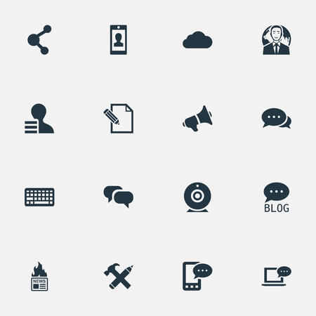 Vector Illustration Set Of Simple Newspaper Icons.