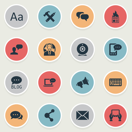 laptop repair: Vector Illustration Set Of Simple User Icons. Elements Keypad, Site, Argument And Other Synonyms Argument, Conversation And Coming. Illustration