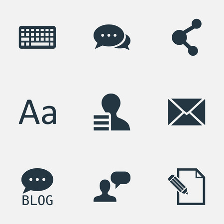 advantages: Vector Illustration Set Of Simple Newspaper Icons. Elements Man Considering, Document, Share And Other Synonyms Keyboard, Keypad And Profit.