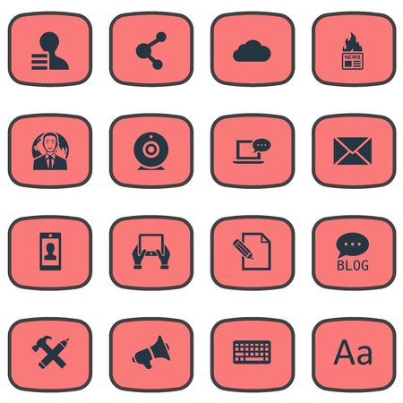 Vector Illustration Set Of Simple User Icons. Elements Gain, Gazette, International Businessman And Other Synonyms Profile, Hammer And International. Ilustrace