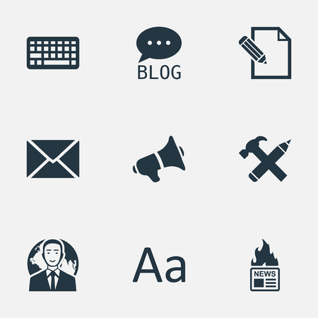 patent key: Vector Illustration Set Of Simple User Icons. Elements Site, International Businessman, Document And Other Synonyms Speaker, Forum And News.