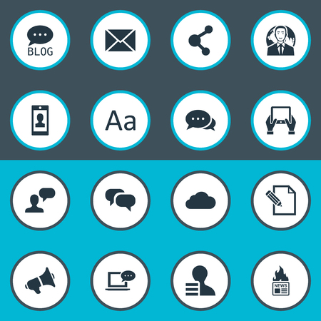 Vector Illustration Set Of Simple User Icons. Elements Laptop, Man Considering, Cedilla And Other Synonyms Typography, International And Argument. Ilustrace