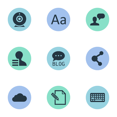 Vectorillustratiereeks Eenvoudige Gebruikerspictogrammen. Elementen-site, winst, man-overweging en andere synoniemen overwegen, delen en toetsenbord. Stockfoto - 77075281