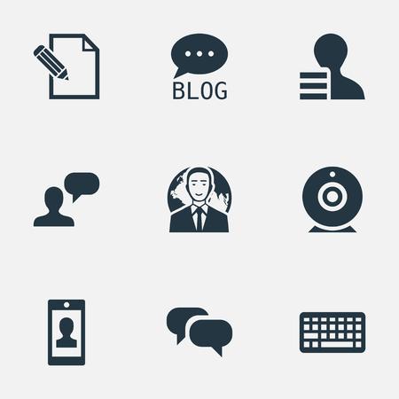 벡터 일러스트 레이 션 간단한 사용자 아이콘의 집합입니다. 요소 키패드, 프로필, 고려 및 기타 동의어 토론, 대화 및 포럼. 스톡 콘텐츠 - 77171899