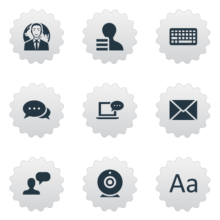 Vector Illustration Set Of Simple Newspaper Icons. Elements Gain, Argument, Laptop And Other Synonyms Gain, Laptop And Considering.