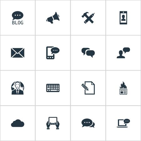 벡터 일러스트 레이 션 간단한 사용자 아이콘의 집합입니다. 요소 키패드, 사이트, 게시물 및 기타 동의어 키패드, 공보 및 쓰기. 스톡 콘텐츠 - 77339390
