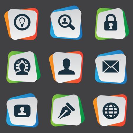 Illustration vectorielle définie des icônes de tâches simples. Elements World, Ampoule, Boîte de réception et autres synonymes Représentant, signe et idée. Banque d'images - 77357922