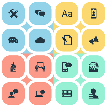 burning paper: Vector Illustration Set Of Simple Blogging Icons. Elements Notepad, Gazette, Document And Other Synonyms Profit, International And Speech.