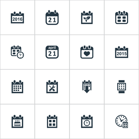 vector illustration set of simple plan icons elements special